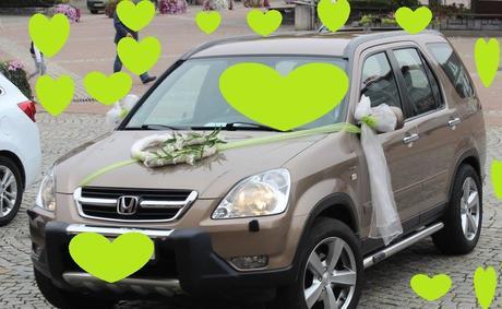 Zelená svatba+výzdoba auta,
