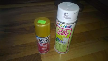 spray bílý 400ml i zlatý 160ml,