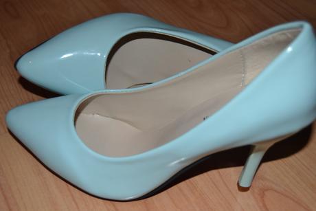 Lodičky Mint - tiffany blue, 38