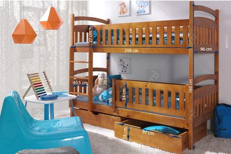 Poschodová posteľ Ania II,
