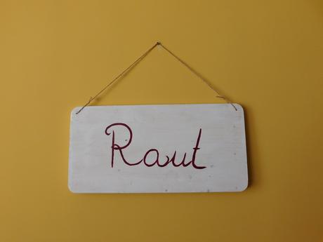 Dřevěná cedule Raut,