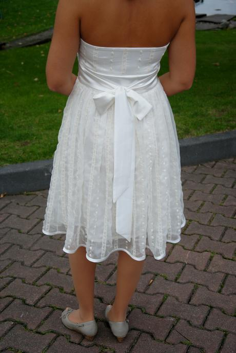 Svatební šaty krátké vel.36-38, 36
