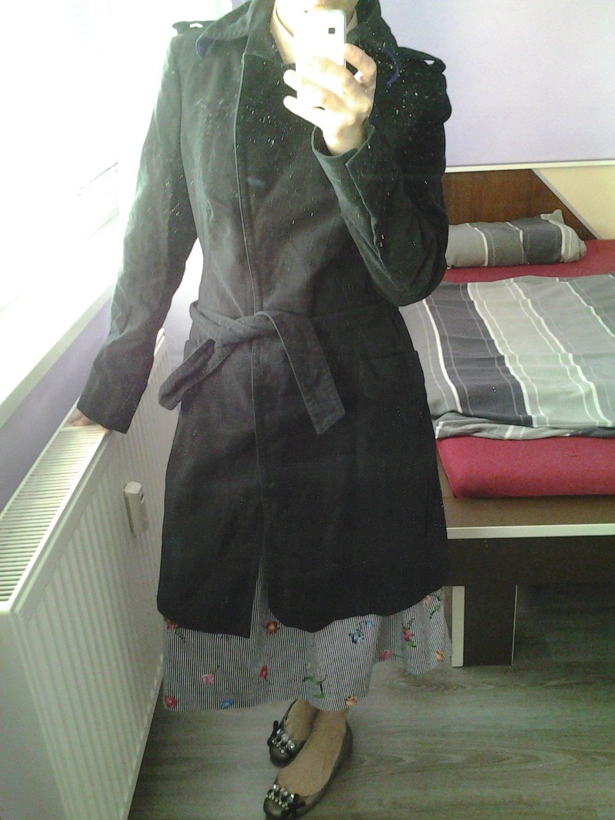 0ba65d9d7fa0 Čierny vlnený kabát