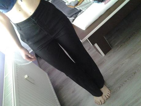 dámske elegantné čierne nohavice, 36