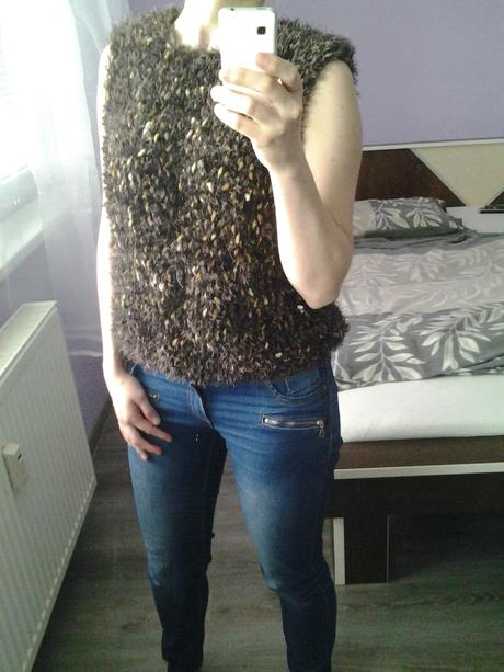 elegantná hrubá vesta , 36