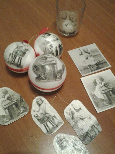 handmade set retro vianočnej výzdoby,