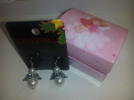 anjelikové naušničky s krabičkou,