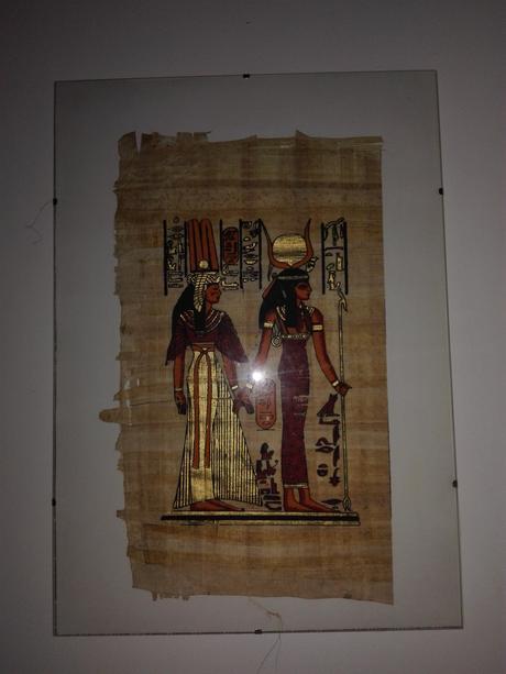 1ks obraz na egyptskom papyruse,