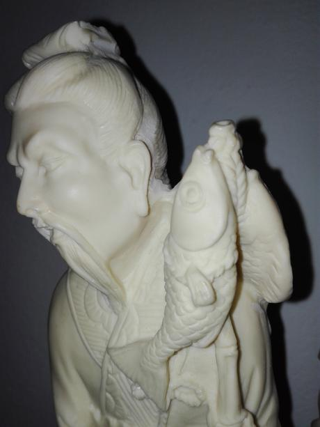 Alabastrová socha - Čínsky rybár,