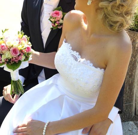 Krátke biele svadobné šaty, 36/38, 36