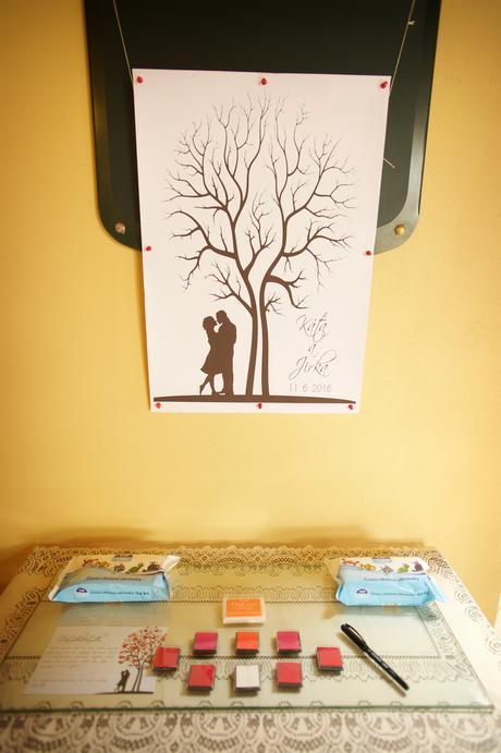 Polštářky na otisky na svatební strom,