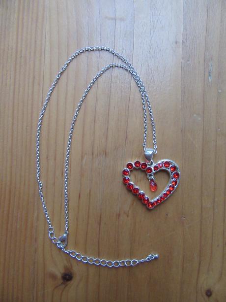 Červené srdce - přívěsek,