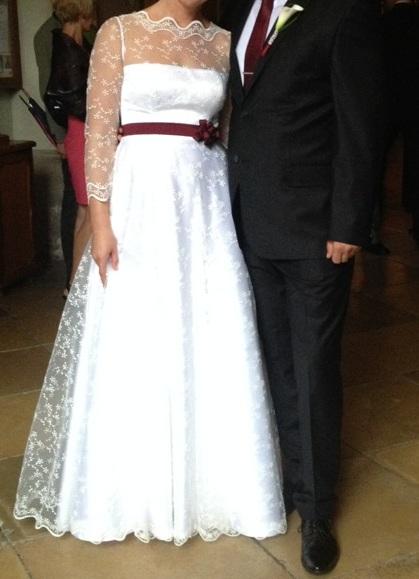 Svadobné šaty - predaj, 38
