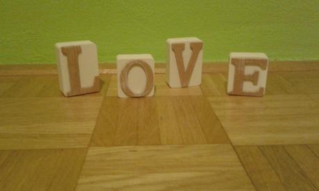 Písmenka LOVE,