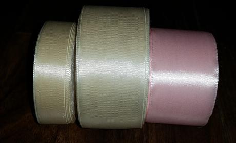 stuha ivory 20 mm a 40 mm, růžová 40 mm,