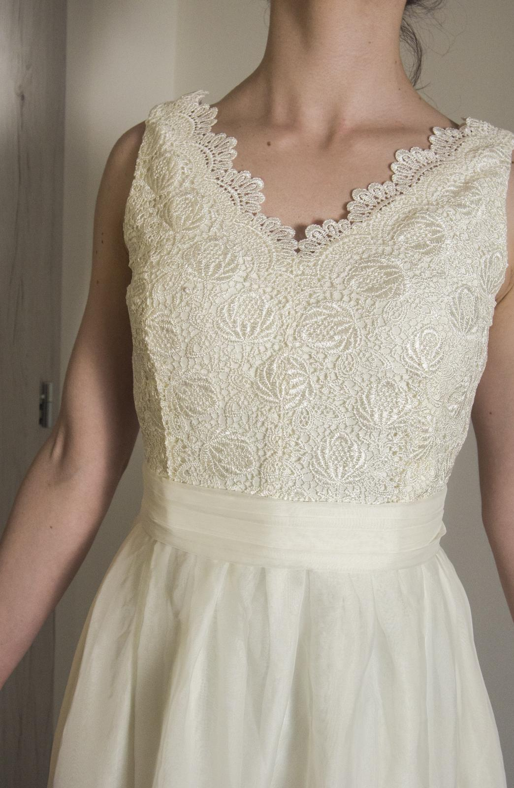Svadobné šaty čipkované handmade 628299fa53