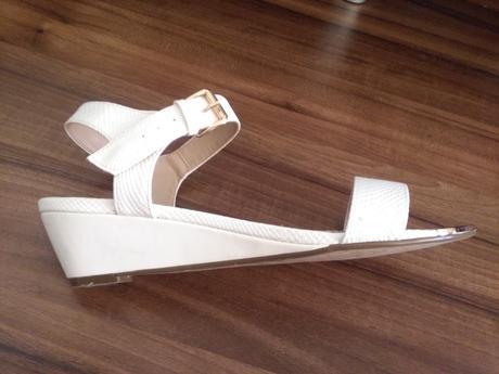 Bílé páskové boty , 40