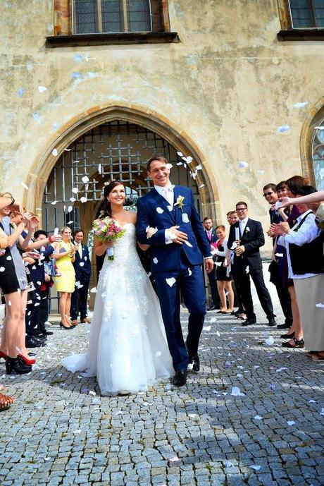 Tylové Champagne svatební šaty, 34