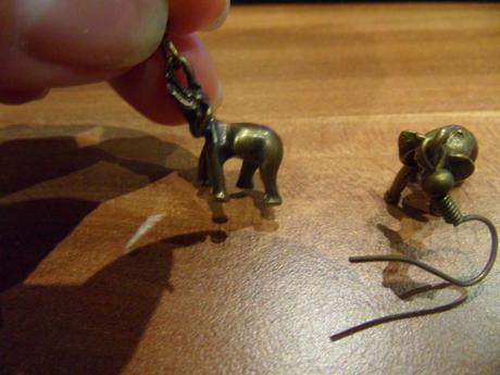 Náušnice sloník,
