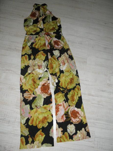 spolocensky nohavicovy overal 42/44 kvetinovy vzor, 42