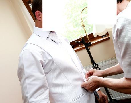 vesta, kravata, vreckovka - komplet, 48