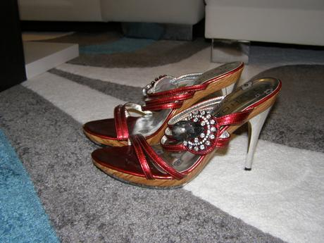 Sandalky bordové, 38