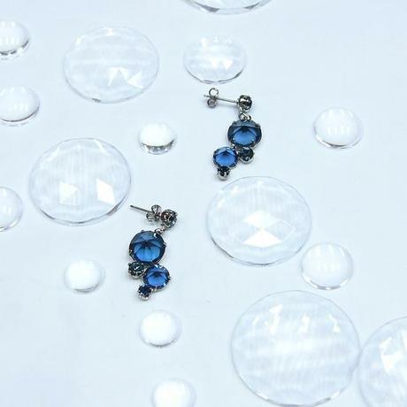 Modré šanelové náušnice - montana,