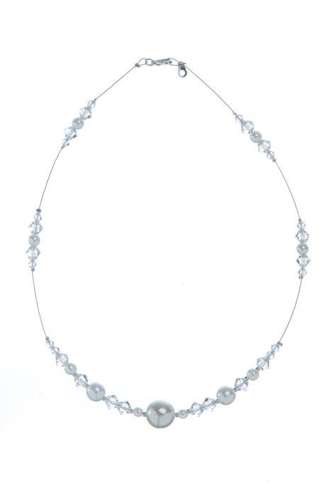 Perlovo-sluníčkový náhrdelník,