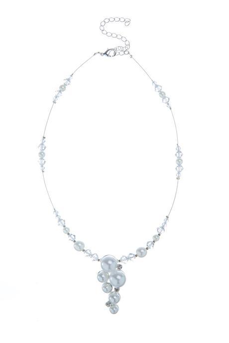 Perlový náhrdelník se sluníčky,