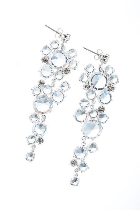 Svatební krystalové náušnice,