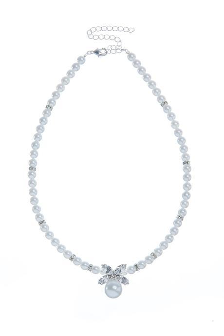 Svetební perlový náhrdelník,