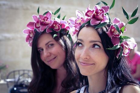 Květinové čelenky,