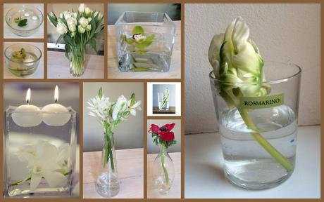 pronájem dekorací - vázy, svícny, dózičky,