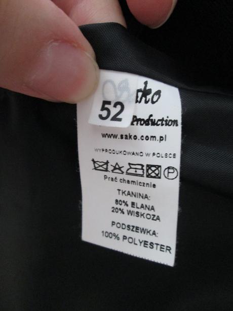 Pánske čierne sako, 52