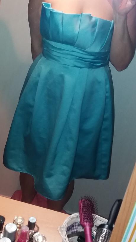 Tyrkysové šaty s kapsami Forever Yours, 40