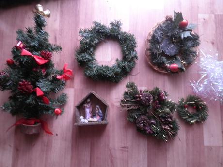 Vianočne dekoracie 0,50-1e,