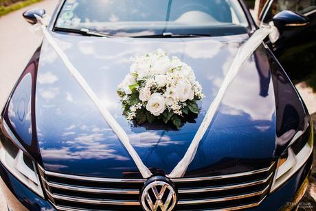 Svadobná kytica na auto,