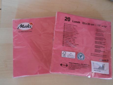 Papírové ubrousky, 2 balení po 20 ks,