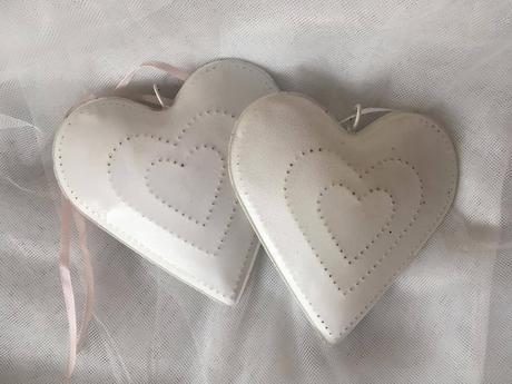 Srdce na zavěšení kovové 2ks,