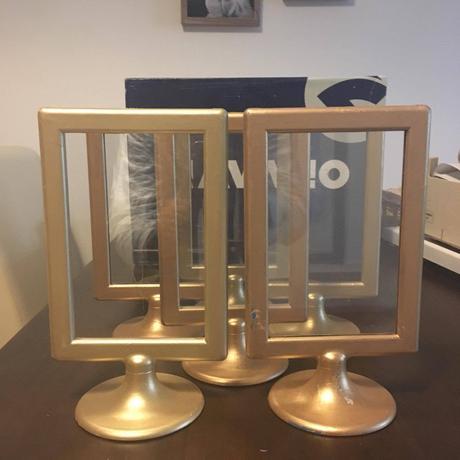 Zlaté IKEA rámečky 6ks,