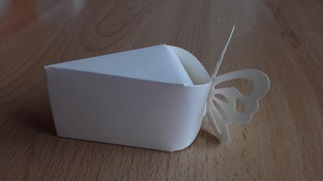 Krabicky na vysluzky - dort motyl,