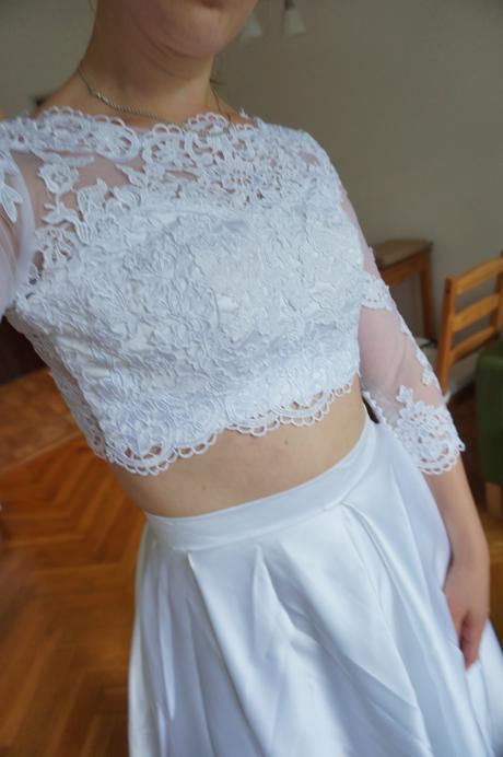 Krajkové dvojdílné šaty 36-38, 38