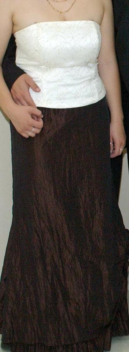 Svetlý korzet+tmavá sukňa, 42