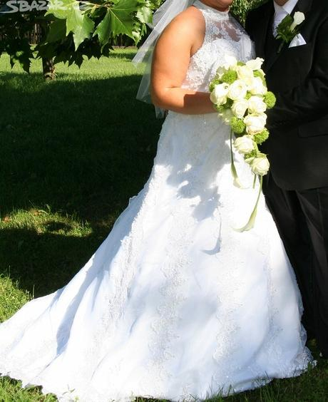 Svatební šaty vel.46, 46