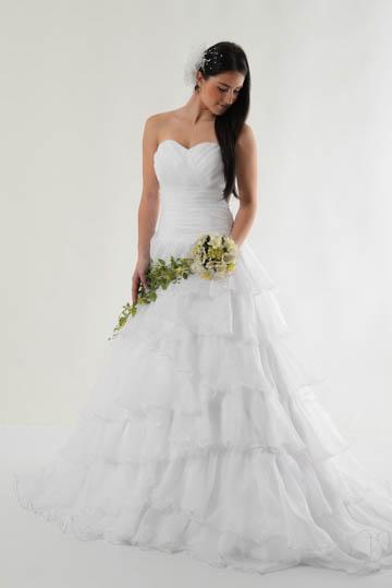Šaty s kaskádovou sukní, 40