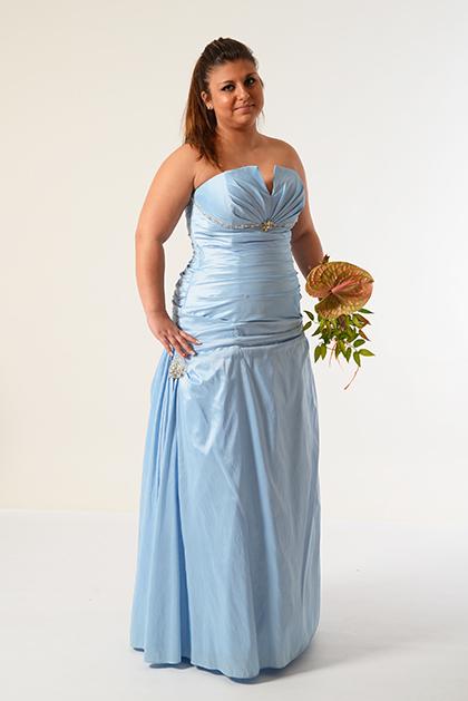 Taftové šaty s překlady, 42
