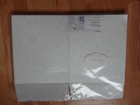 Svadobná krabička na telegramy strieborná,