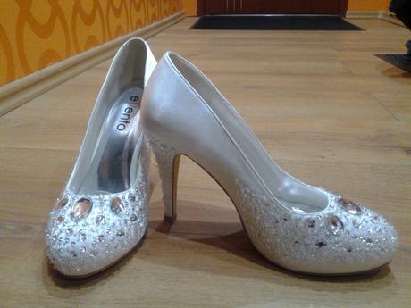svadobne satenove topánky, 40