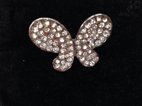brošňa v tvare motýľa,