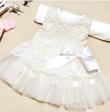 d3b006906201 Společenské dětské bílé šaty 1